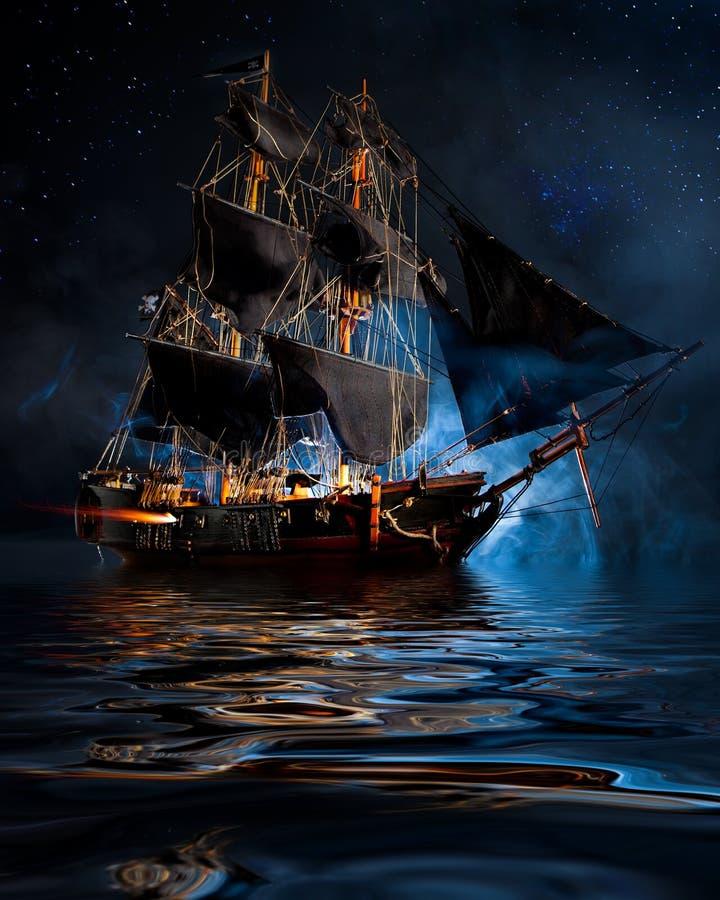 Los piratas de los 04 del Caribe fotos de archivo