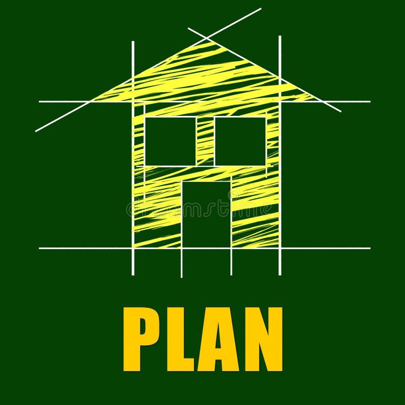 Los planes contienen representan al arquitecto Habitation And Residence stock de ilustración