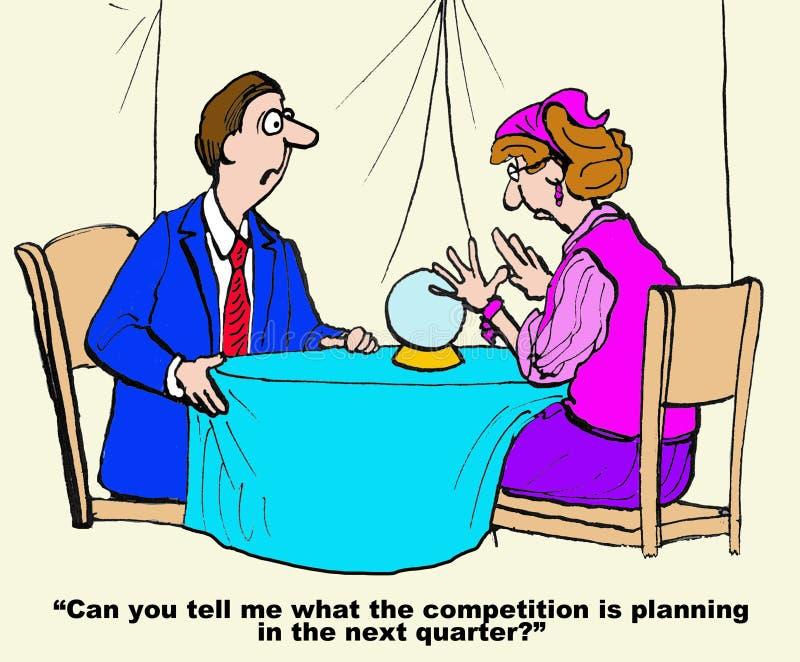 Los planes del competidor stock de ilustración
