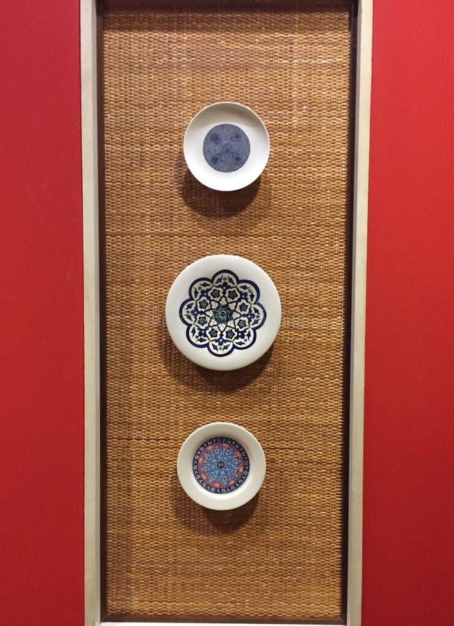 Los platos chinos escogen la exhibición fotografía de archivo libre de regalías