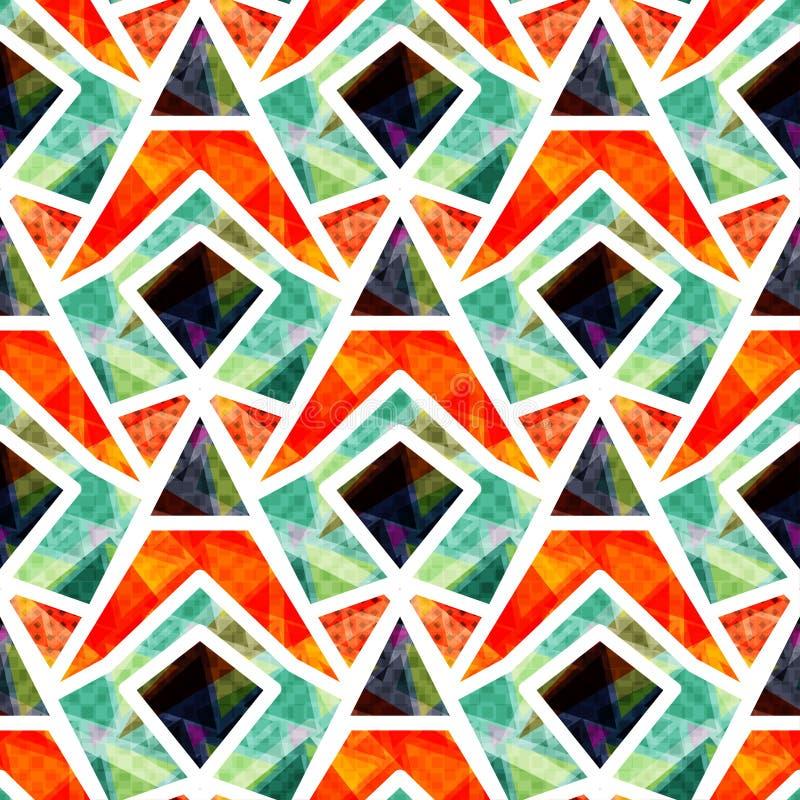 Los polígonos coloreados hermosos con blanco contornean el ejemplo inconsútil del vector del modelo stock de ilustración
