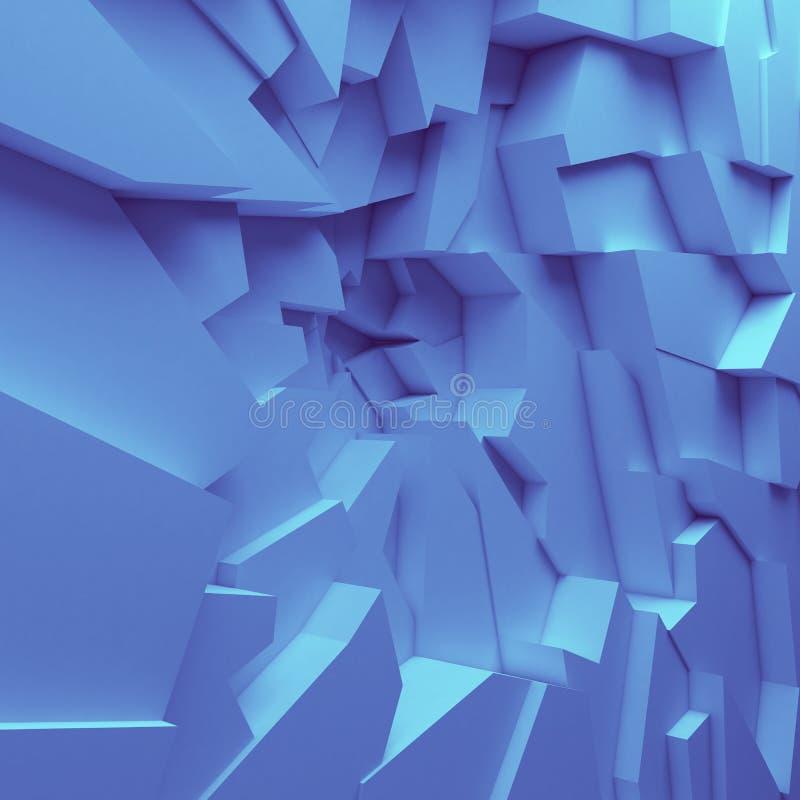 Los polígonos geométricos del extracto del color wallpaper, como pared de la grieta imagen de archivo