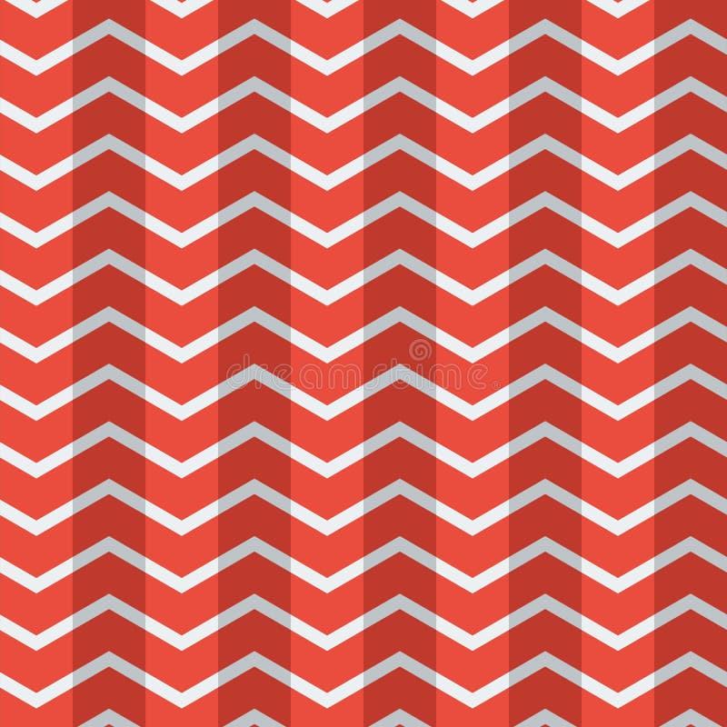 Los polígonos planos inconsútiles impresionantes modelan el papel pintado blanco rojo del vector del color libre illustration
