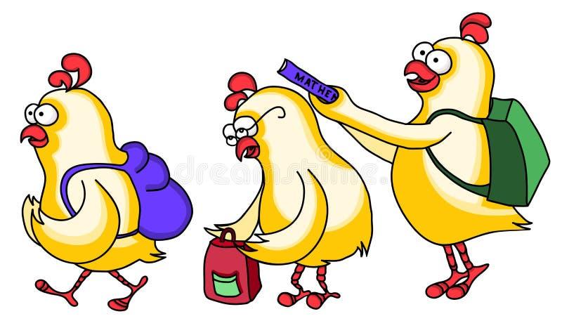 Los pollos van a la escuela libre illustration