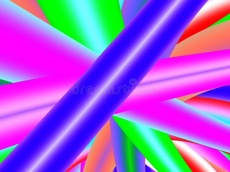 Los polos brillantes cruzaron ilustración del vector