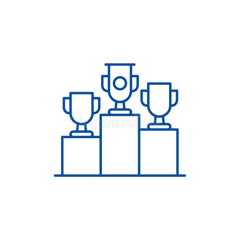 Los premios de la rifa alinean concepto del icono Símbolo plano del vector de los premios de la rifa, muestra, ejemplo del esquem libre illustration