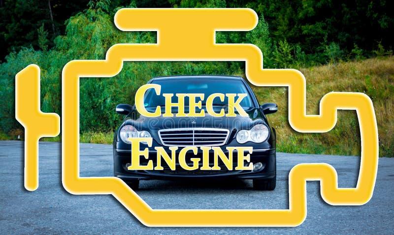 Los problemas mecánicos, problemas del motor, mantienen diagnóstico por el puerto del obd stock de ilustración