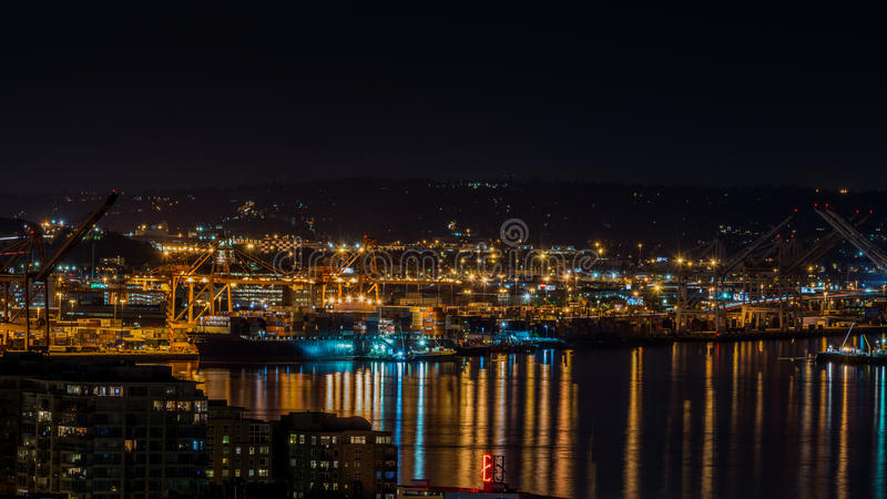 Los puertos en Seattle fotografía de archivo