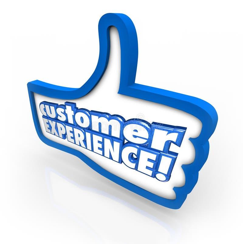 Los pulgares de la experiencia del cliente suben la satisfacción Enjoyme del cliente del símbolo libre illustration