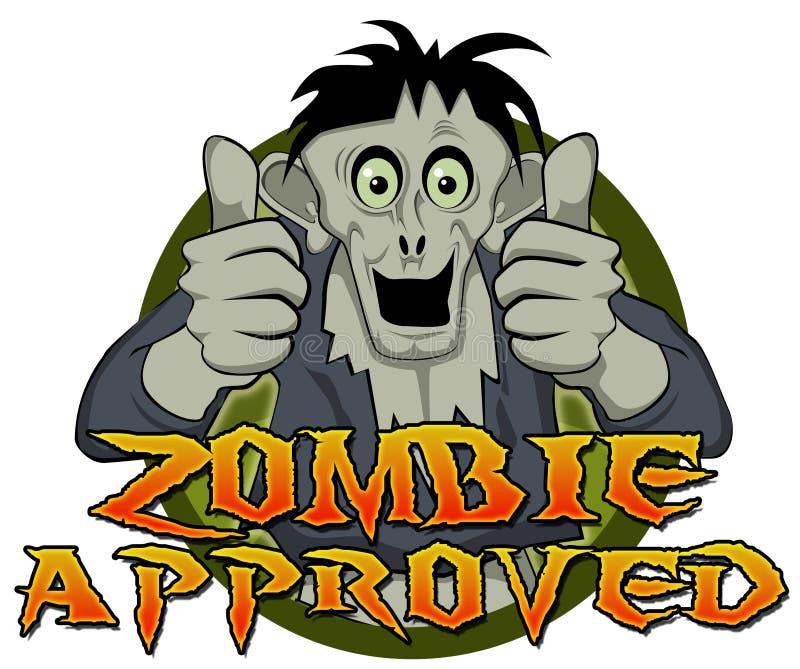 Los pulgares suben al zombi aprobado fotos de archivo