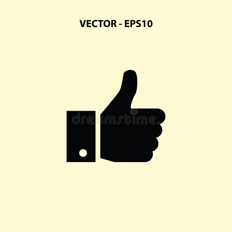 Los pulgares suben el icono ilustración del vector
