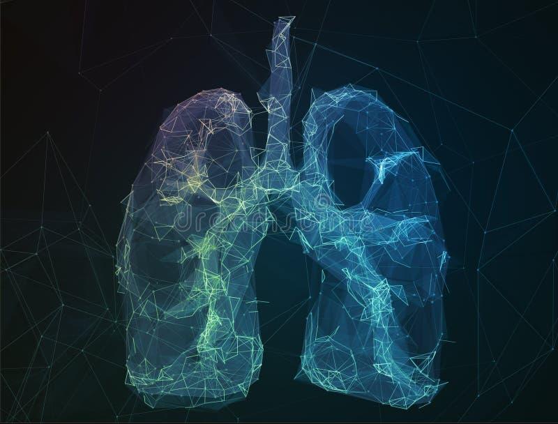 Los pulmones humanos de la imagen abstracta en la forma de líneas imagen de archivo libre de regalías