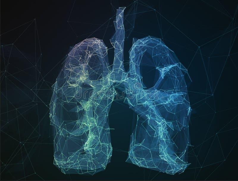 Los pulmones humanos de la imagen abstracta en la forma de líneas fotos de archivo