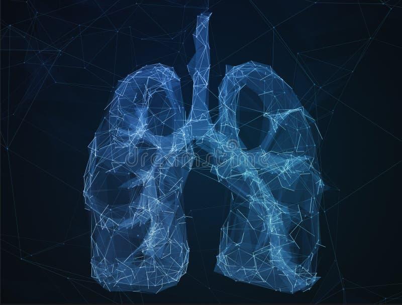 Los pulmones humanos de la imagen abstracta en la forma de líneas fotografía de archivo libre de regalías