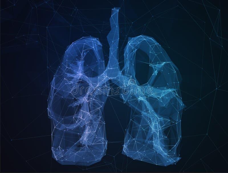 Los pulmones humanos de la imagen abstracta en la forma de líneas fotos de archivo libres de regalías