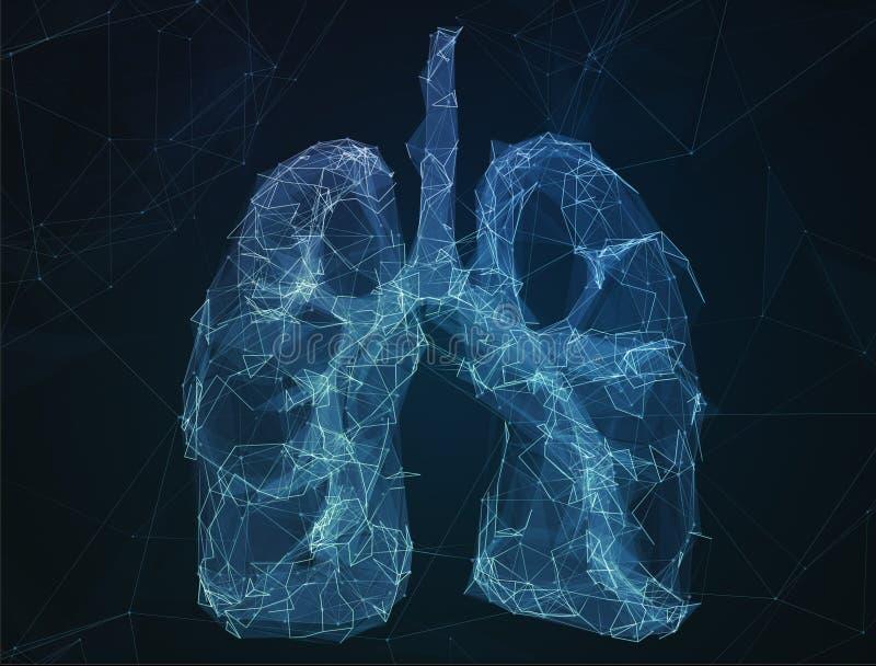 Los pulmones humanos de la imagen abstracta en la forma de líneas imagenes de archivo