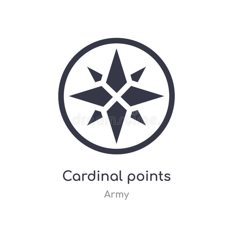 los puntos cardinales en los vientos protagonizan el icono los puntos cardinales aislados en los vientos protagonizan el ejemplo  ilustración del vector
