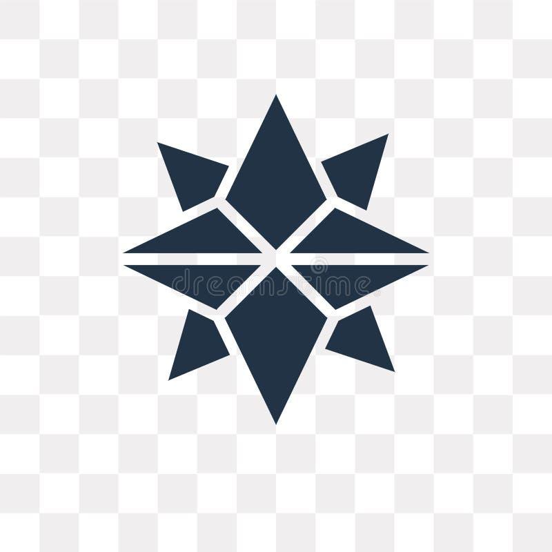Los puntos cardinales en los vientos protagonizan el icono del vector aislado encendido transparen libre illustration