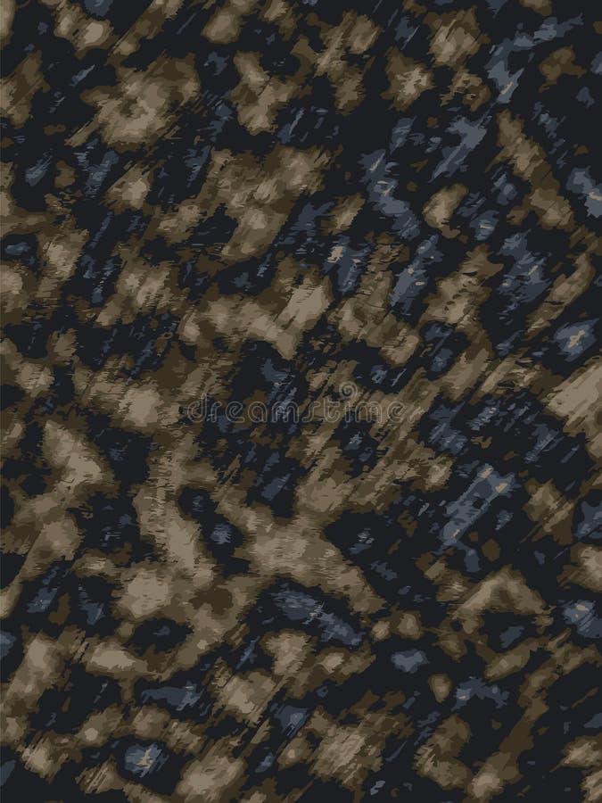 Los puntos de madera quemados del leopardo del escritorio texturizan el fondo natural stock de ilustración