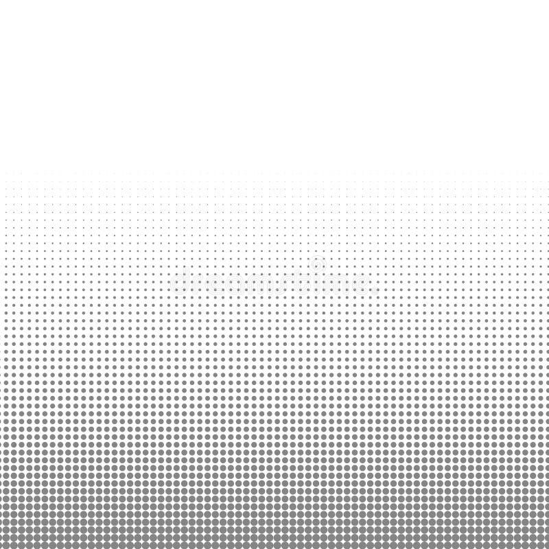 Los puntos de semitono blancos y negros del círculo texturizan el fondo para el modelo abstracto y el diseño gráfico stock de ilustración