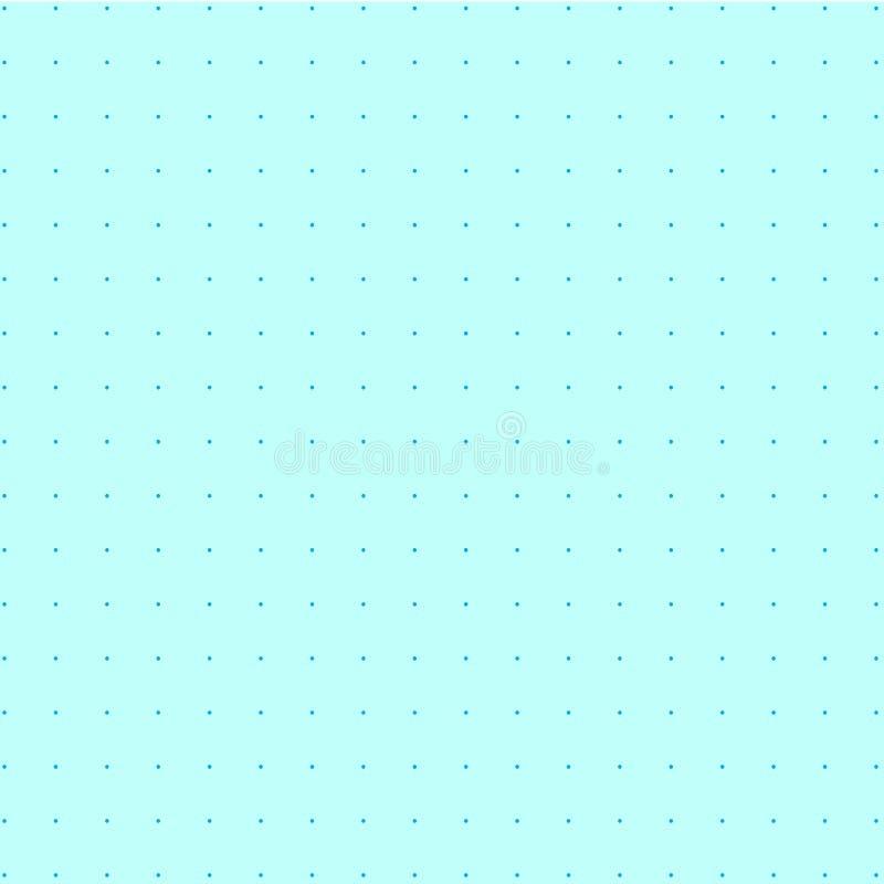 Los puntos en fondo de la turquesa stock de ilustración