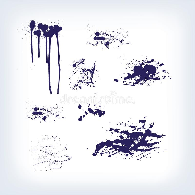 Los puntos gotean el sistema de las manchas blancas /negras del chapoteo de las rayas libre illustration