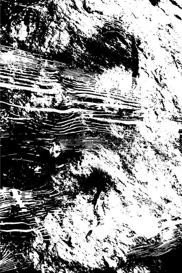 Los rasguños ásperos sucios abstractos texturizan el ejemplo del fondo en blanco y negro ilustración del vector
