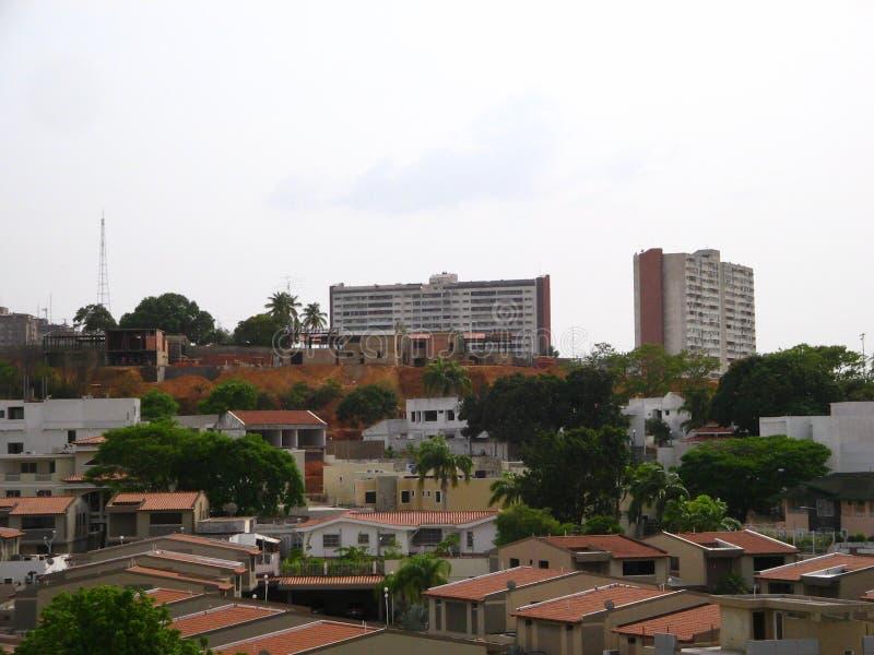Los Raudales Buildings. Puerto Ordaz. Venezuela. This is a view of Los Raudales Buildings in Puerto Ordaz city, Venezuela. Multi-storey buildings and apartments stock photo