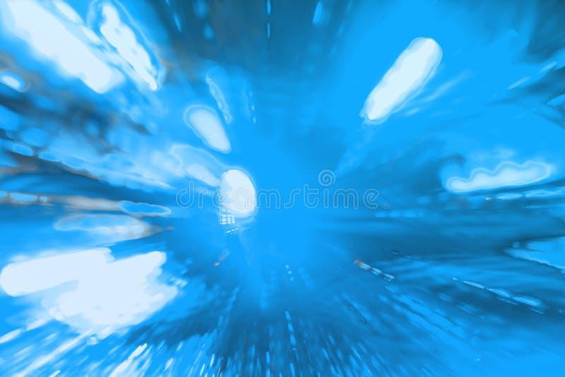 Los rayos móviles de la guirnalda del día de fiesta azul claro texturizan - el fondo abstracto bonito de la foto fotos de archivo