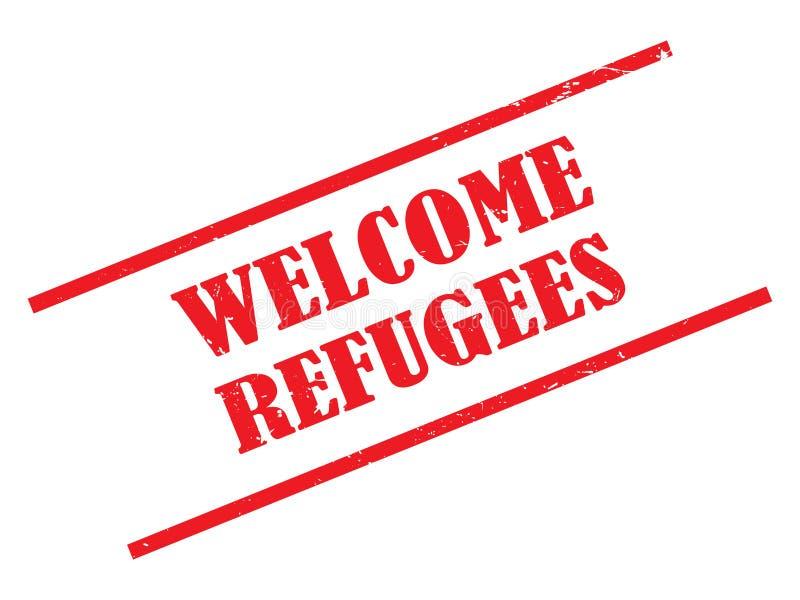 Los refugiados agradables sellan ilustración del vector