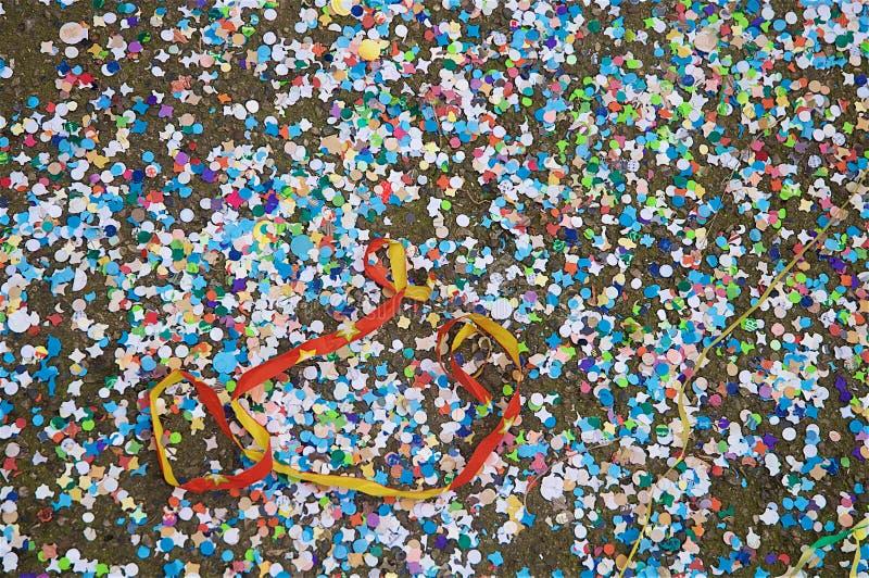 Los remainings del ` s del carnaval fotografía de archivo libre de regalías