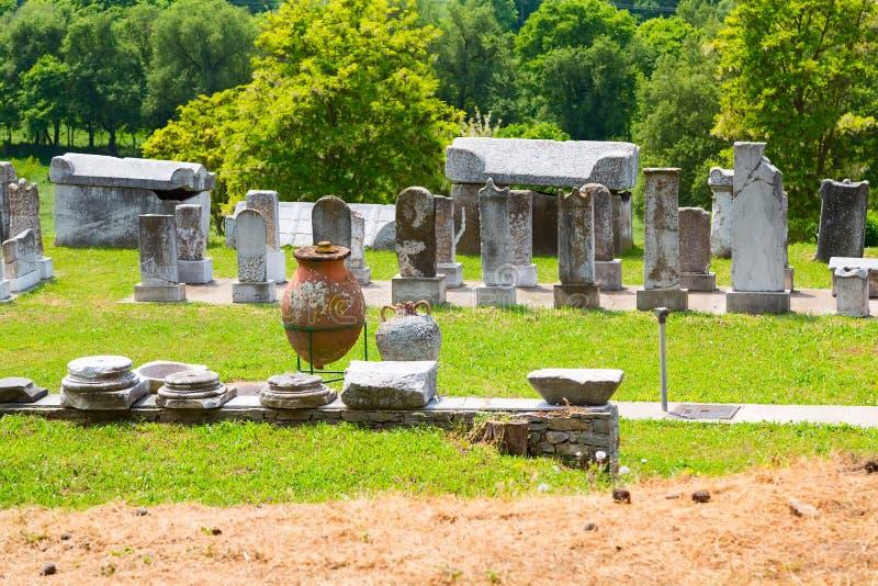 Los restos antiguos en Philippi, Grecia fotos de archivo libres de regalías