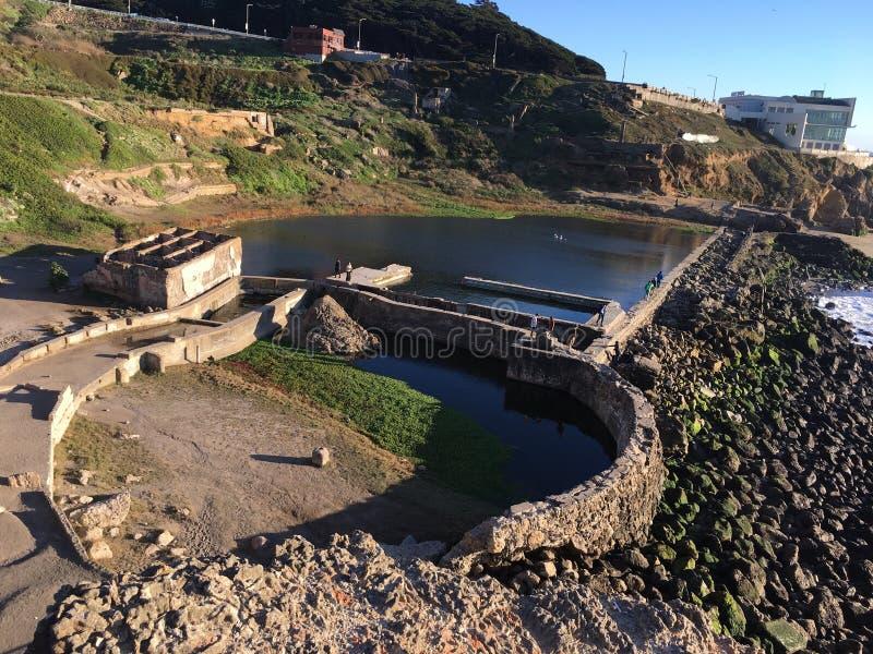 Los restos de los baños de Sutro, San Francisco, 8 fotografía de archivo