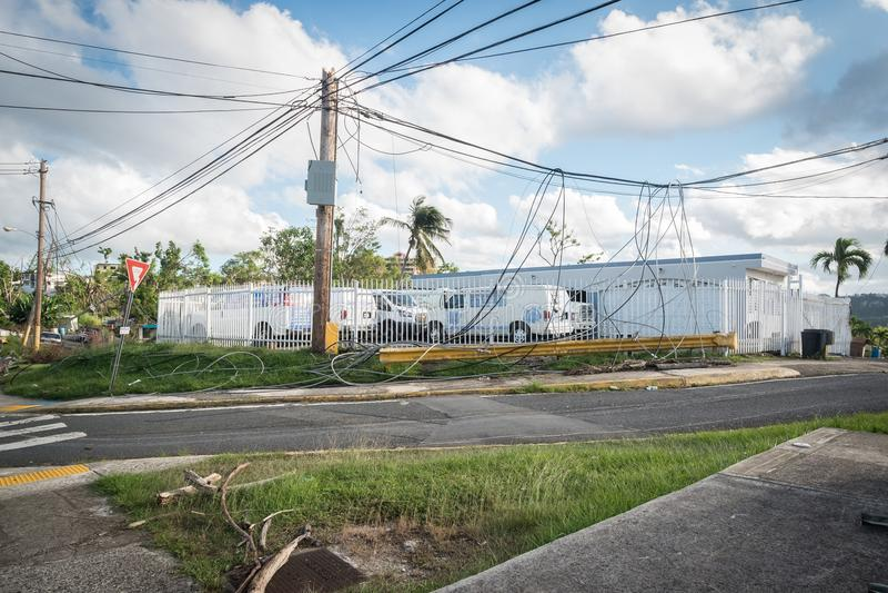 Los restos del huracán Maria imagen de archivo