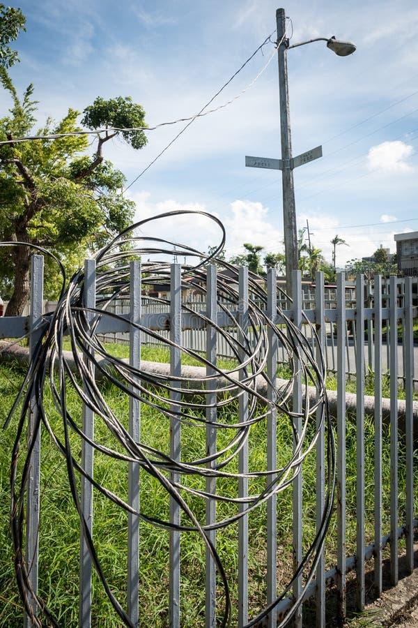 Los restos del huracán Maria imagenes de archivo