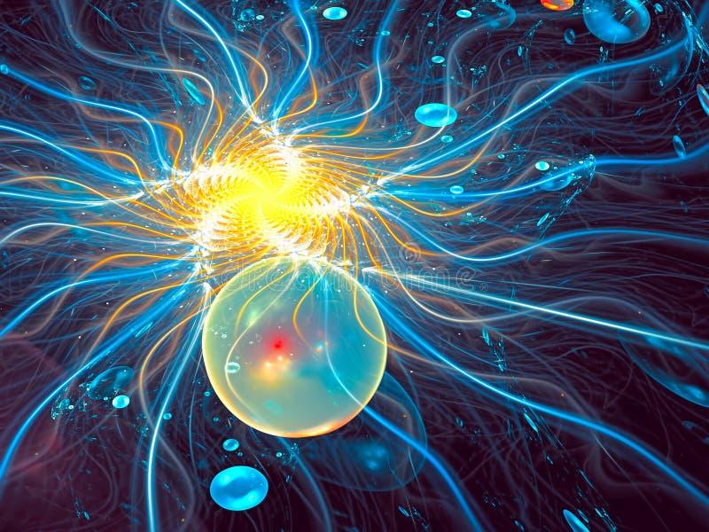 Los rizos y las burbujas del caos - resuma la imagen digital generada libre illustration