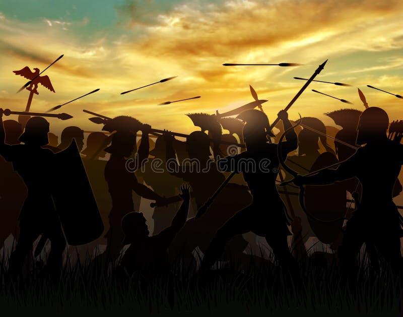 Los romanos ilustración del vector