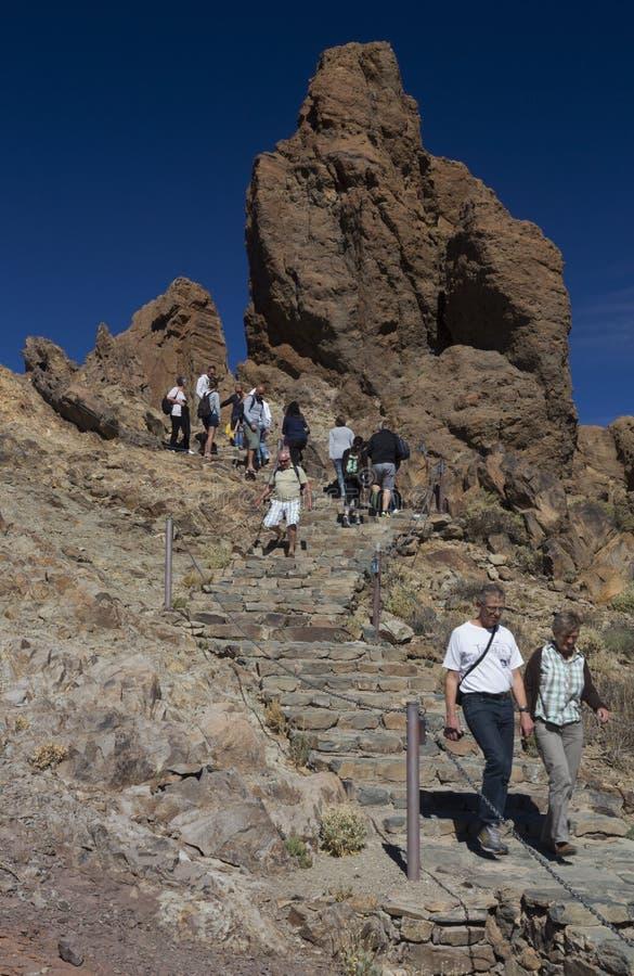 Los Roques De Garcia, góry Teide park narodowy, Tenerife, wyspy kanaryjska, Hiszpania fotografia stock