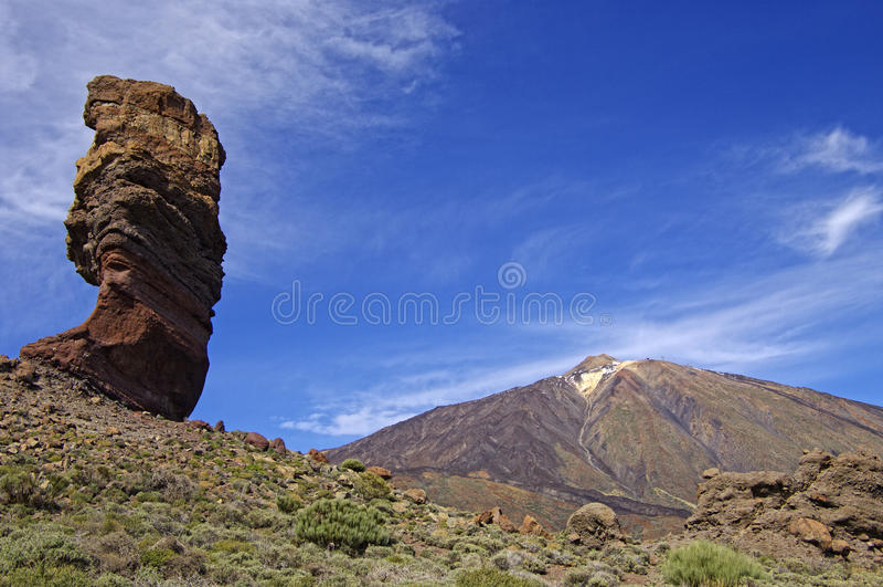 Los Roques no parque nacional do EL Teide. imagens de stock