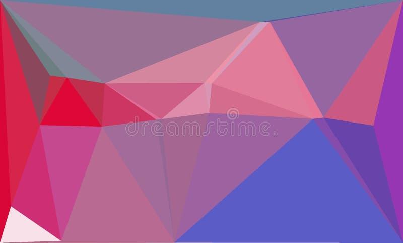 Los rosas y los azules de los triángulos del fractal modelan el expolosion del fondo imagen de archivo