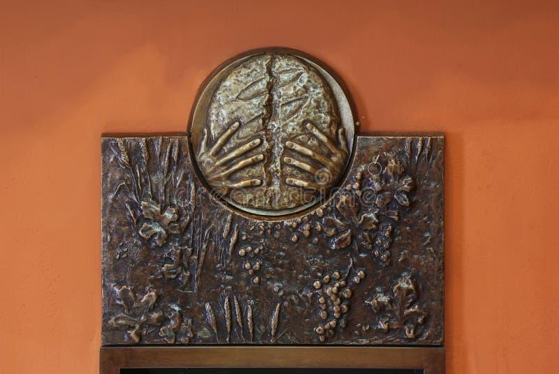 Los símbolos de la eucaristía fotografía de archivo