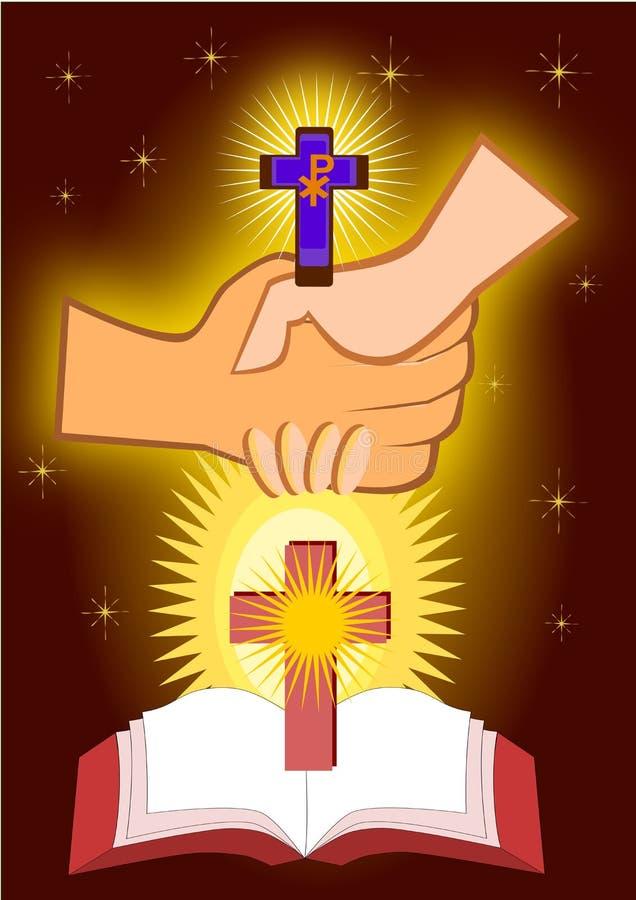 Los sacramentos de la penitencia ilustración del vector