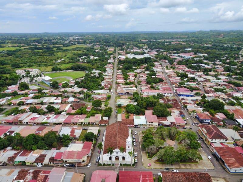 Los Santos, una pequeña ciudad en Panamá fotos de archivo libres de regalías
