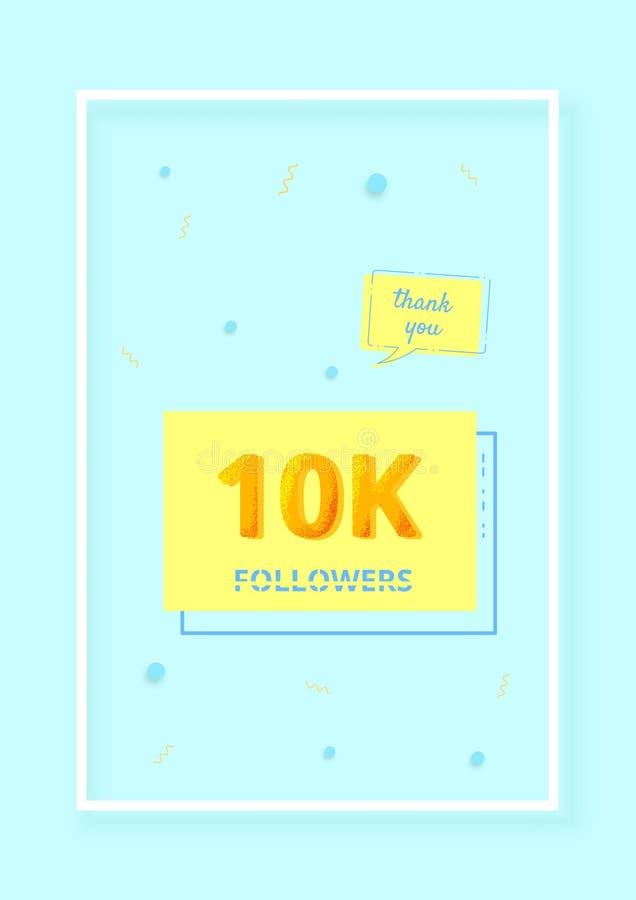 los seguidores 10K le agradecen fijar el ejemplo del vector ilustración del vector