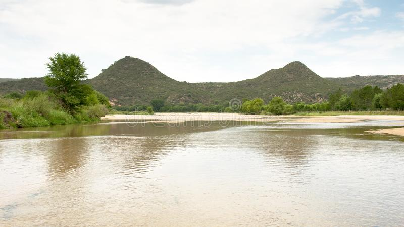 Los-Soßenfluß in Nono, Cordoba lizenzfreie stockfotografie