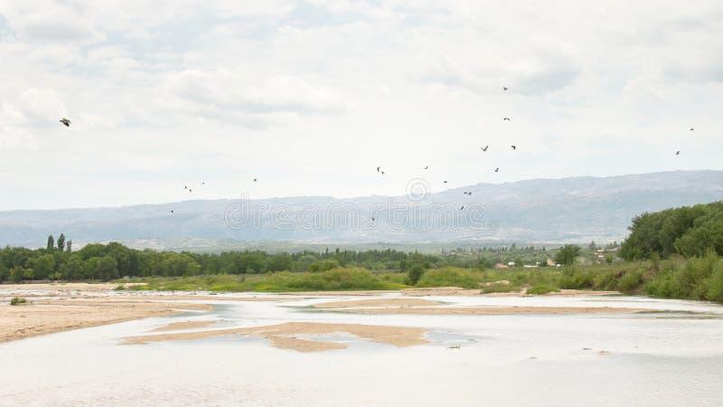Los-Soßenfluß in Nono, Cordoba stockbilder