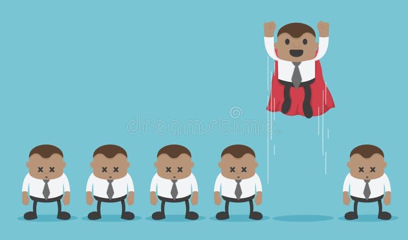 Los superiores africanos del negocio son diferentes de negocio ordinario ilustración del vector