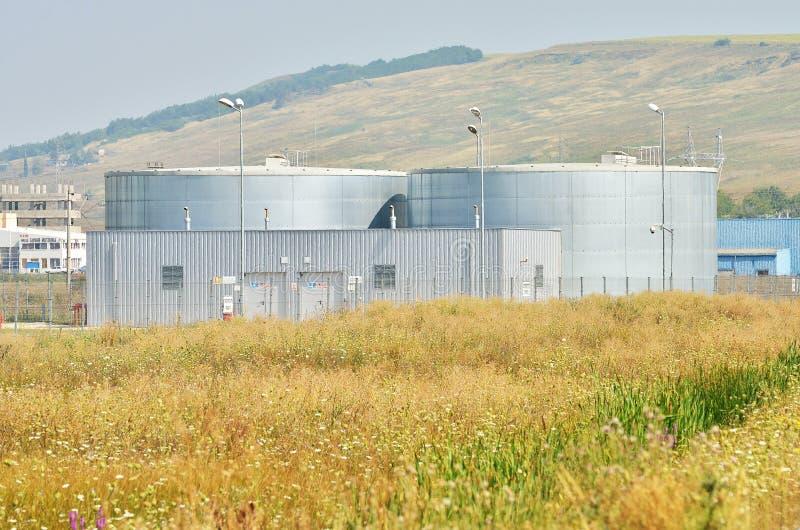 Los tanques de almacenamiento del agua fotos de archivo libres de regalías