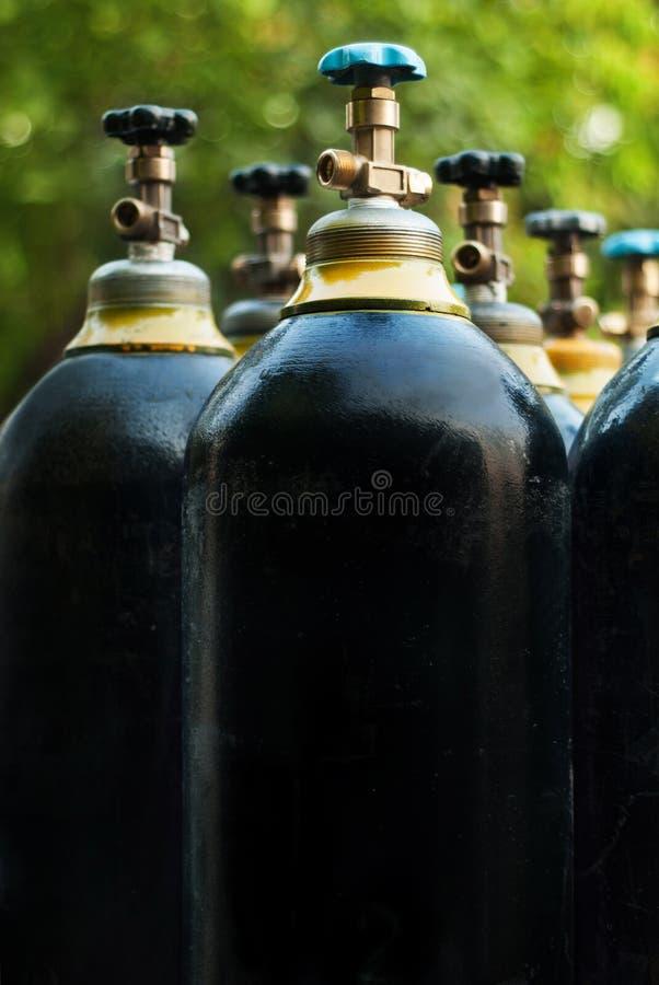 Los tanques de oxígeno imagenes de archivo