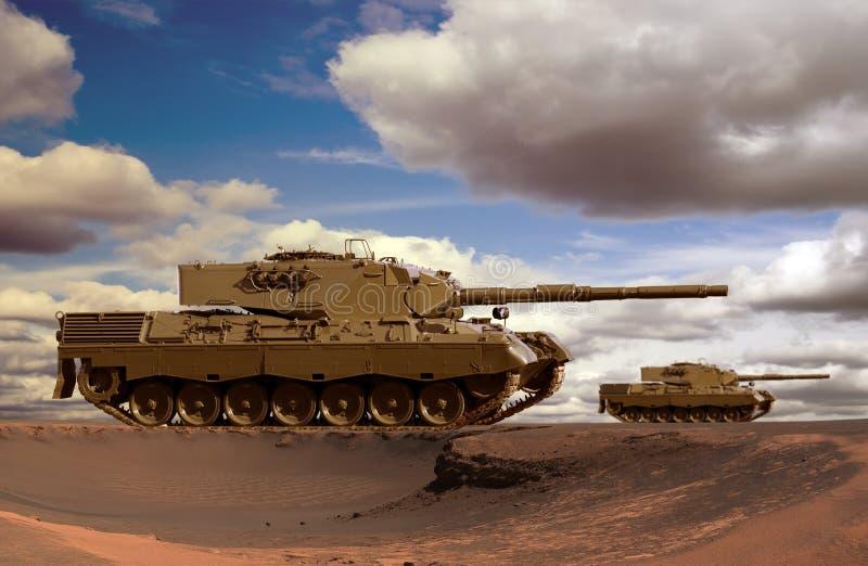 Los tanques del desierto fotos de archivo